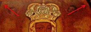 stary obraz Matki Bożej z Dzieciątkiem